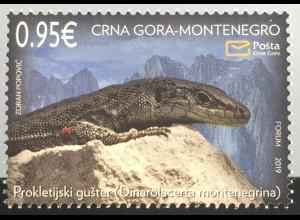 Montenegro 2019 Nr. 430 Fauna Prokletije-Spitzkopfeidechse Tiere Gattung Eidechs