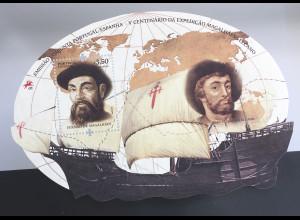 Portugal 2019 Block 448 500. Jahrestag des Beginns der ersten Weltumsegelung