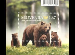 Slowenien Slovenia 2019 Block 118 Braunbären Fauna Tiere Bears Orso Säugetier