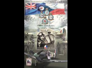 Tschechische Republik 2019 Block 78 Piloten bei der Royal Air Force