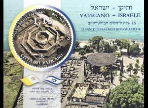 Vatikan Cittá del Vaticano 2019 Block 63 25 Jahre dipl. Beziehungen mit Israel