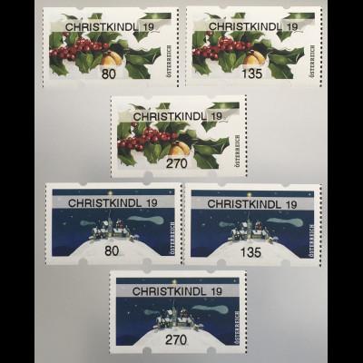 Österreich 2019 Nr. 60-61 Automatenmarken Weihnachten CHRISTKINDL Christmas