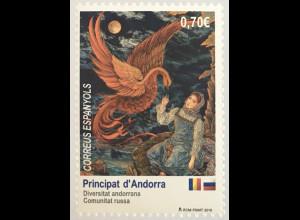 Andorra spanisch 2019 Nr. 487 Kult. Vielfalt in Andorra Russische Gemeinschaft