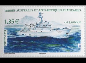 Franz. Antarktis TAAF 2019 Nr. 1054 Schiffe Transport Schiffverkehr Motorjacht