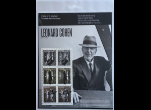 Kanada Canada 2019 Block 291 Leonard Cohen Musiker Songwriter Musiklegende Bogen