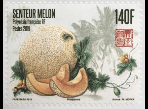 Polynesien französisch 2019 Nr. 1412 Briefmarke mit Melonenduft und Motiv