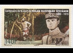Polynesien französisch 2019 Neuheit Todestag Milan Stefanik Astronom Diplomat