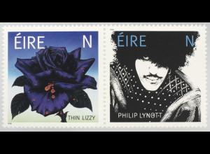 "Irland 2019 Nr 2337-38 50 Jahre Band ""Thin Lizzy"" Phil Lynott Rockbassist Sänger"