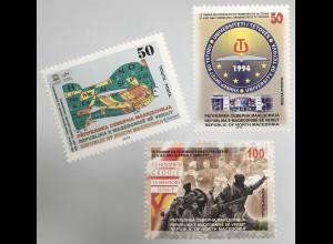 Makedonien Macedonia 2019 Nr. 891-93 Jahrestage und Ereignisse Uni Tetovo