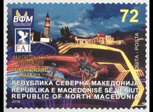 Makedonien Macedonia 2019 Nr. 894 FAI World Cup 2019 – Drohnenfliegen, Prilep