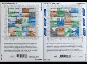 Niederlande 2019 Block 182+183 Öffentliche Transportmittel in den Niederlanden