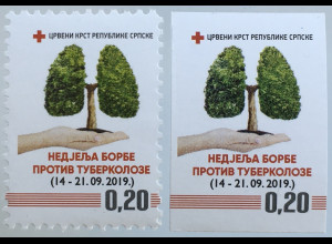 Bosnien Herzegowina Serbische Republik 2019 Nr. 45 Zwangszuschlag Rotes Kreuz
