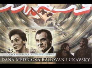 Tschechische Republik 2019 Block 80 Dana Medricka und Radovan Lukavsky Film Kino