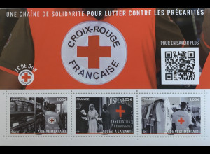Frankreich France 2019 Block 453 Rotes Kreuz Red Cross Aide Alimentaire