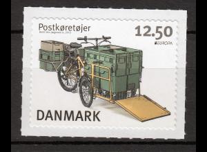 Dänemark 2013 Michel Nr. 1738 Europa Postfahrzeug Elektrofahrrad