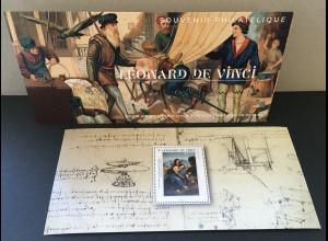 Frankreich France 2019 Block 456 Souvenir Philatelique Leonardo da Vinci Gemälde