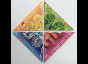 Hongkong 2019 Neuheit 70 Jahre Gründung Volkdsrepublik Chinas Dreiecksmarken