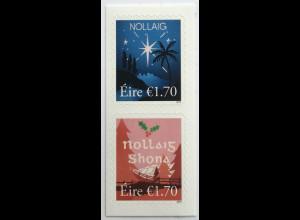 Irland 2019 Michel Nr, 2343-44 Weihnachten Christmas Natale Heilige Nacht