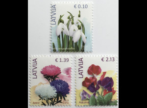 Lettland Latvia 2019 Neuheit Freimarken Neudruck Blumen Flora Natur Ökologie
