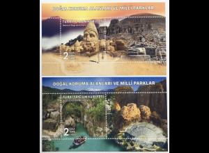Türkei Turkey 2019 Block 192-193Naturschutzgebiete und Nationalparks Nemrut-Dağı