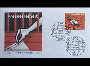 Bund BRD Ersttagsbrief FDC 2. Januar 2020 Nr. 3515 Pressefreiheit