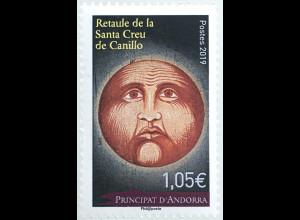 Andorra französisch 2019 Nr. 858 Weihnachten Gemälde Altarbild des Canillo