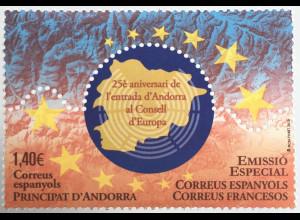 Andorra spanisch 2019 Nr. 488 Eintritt in den Europarat Politik Gemeinschaft