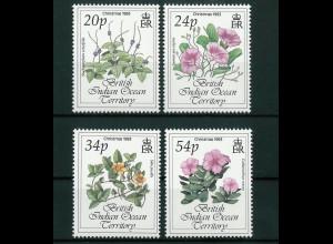 Britisches Territorium im Indischen Ozean (BIOT) Mi.-Nr. 144-47, Blumen, 1993