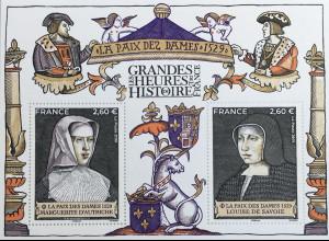 Frankreich France 2019 Block 459 Historienausgabe La Paixe des Dames Jahr 1529