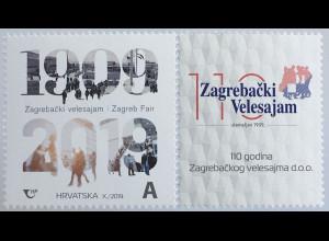 Kroatien Croatia 2019 Neuheit 110 Jahre Messe Zagreb 1909-2019