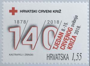 Kroatien Croatia 2019 Neuheit Zwangszuschlagsmarken Rotes Kreuz