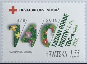 Kroatien Croatia 2019 Neuheit Zwangszuschlagsmarken Tuberkulose