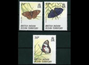 Britisches Territorium im Indischen Ozean (BIOT) Mi.-Nr. 155-57 vom August 1994