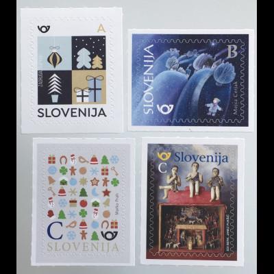Slowenien Slovenia 2019 Neuheit Weihnachten Neujahr aus Folienbogen
