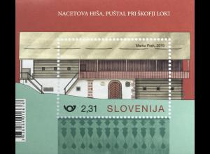 Slowenien Slovenia 2019 Block 120 Bauernhäuser Architektur Landhäuser