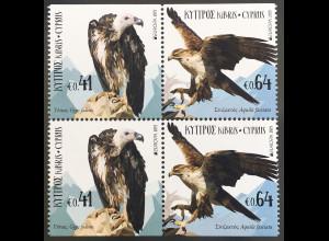 Zypern griechisch Cyprus 2019 Nr. 1408-09 Do Du Europa Einheimische Vogelarten