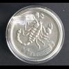 Geschenkidee für Skorpione als Sternzeichen 1 g. Silberbarren zum Aufstellen