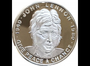 John Lennon Medaille Give Peace a Chance