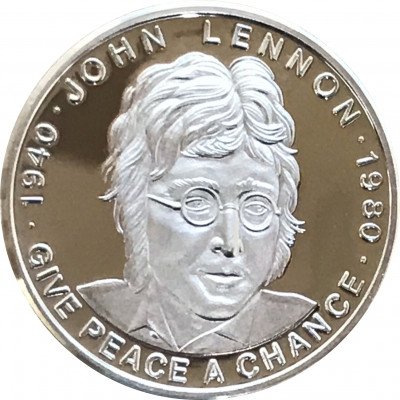John Lennon Medaille Give Peace a Chance