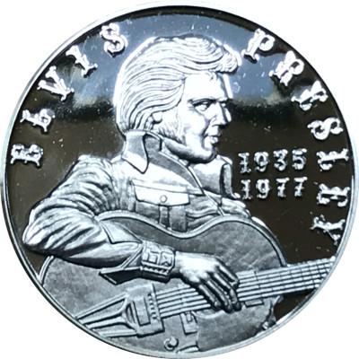 Elvis Presley Medaille in reinem Silber mit Geschenketui
