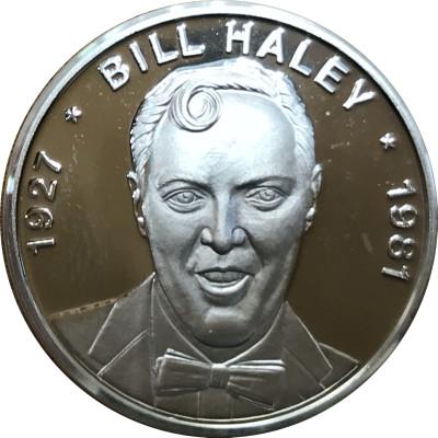 Bill Haley Medaille in reinem Silber mit Geschenketui