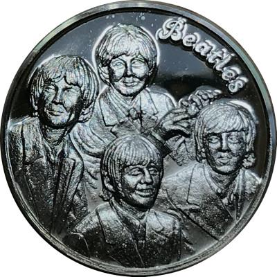 The Beatles Medaille in reinem Silber mit Geschenketui