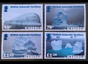 Britische Antarktis BAT 2019 Neuheit Eisberge Eisgebilde schwimmende Eismassen