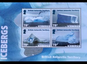 Britische Antarktis BAT 2019 Neuheit Eisberge schwimmende Eismassen Block