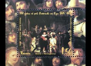 Bosnien Herzegowina 2019 Block 68 350. Todestag von Rembrandt van Rijn