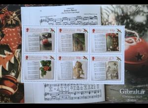 Gibraltar 2019 Block 140 Weihnachten Christmas Natale Weihnachtslieder und Texte