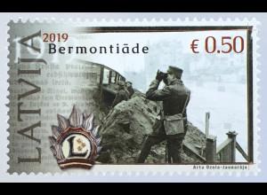 Lettland Latvia 2019 Neuheit 100 Jahre Bermontiade Soldaten Krieg Geschichte