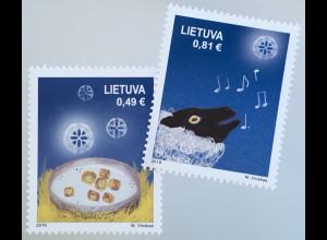 Litauen Lithuania 2019 Neuheit Weihnachten Christmas Natale Tiere Schafe