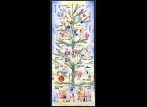 Schweden Sverige 2019 Nr 3295-3304 Christbaumschuck Dekoration Weihnachten Engel