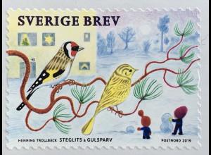 Schweden Sverige 2019 Neuheit Weihnachten Christmas Natale Birds Kohlmeise